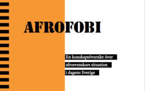 """Del av omslaget till """"Afrofobi - En kunskapsöversikt över afrosvenskars situation i dagens Sverige"""""""