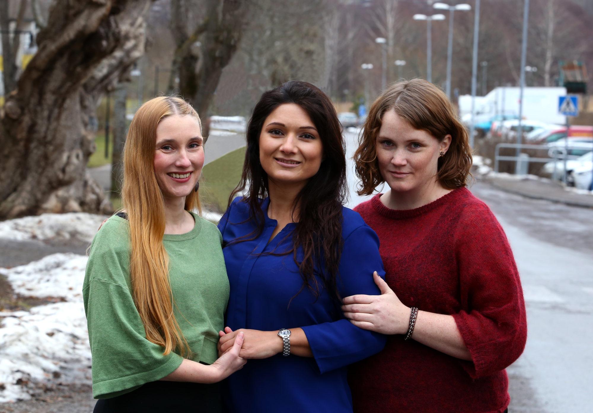 MKCs tre utbildare Anja, Aygül och Marit