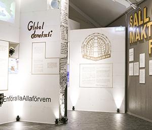 Del av utställningen En för alla, alla för vem?
