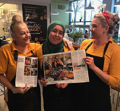 Silvana, Nadja och Malin i Tavernan i reportage av Situation Stockholm 2018