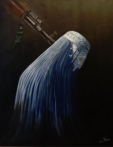 Suzan Habib - målning Burka