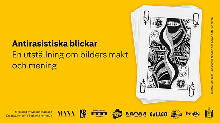 Affisch för utställning om antirasistiska blickar